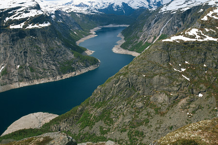 norway: Ringedalsvatnet lake  in Norway