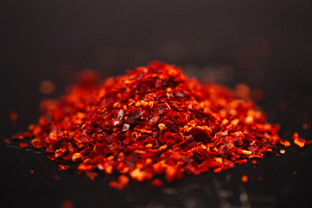 Traditional  harissa spice mix - morrocan red hot chilles mixed
