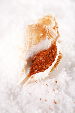 Hawaiian Red Gold Salt, This bright red sea salt whose proper name is Alaea Rouge is the salt used by Hawaiian people in their everyday life. 版權商用圖片