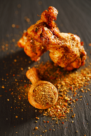 fajita spice blend dry - Toasted Sesame, Almonds, Hazelnuts, Cumin, Coriander, Sea Salt with chicken wings