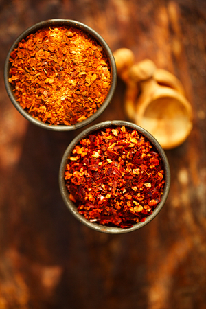 Ras el hanout and harissa spice mix - a mixture of the best spices with morrocan red hot chilles