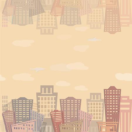 シームレス パターン近代不動産建物を設計します。都市景観。