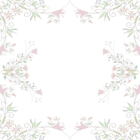 gentle background: Seamless pattern for card for wedding invitations. Texture with flowers. Gentle background. Vector Illustration