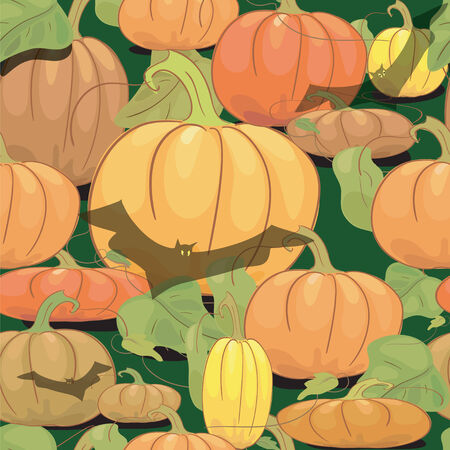 Halloween seamless background.  Vector