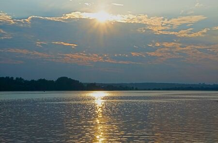 volga: Sunset over the Volga