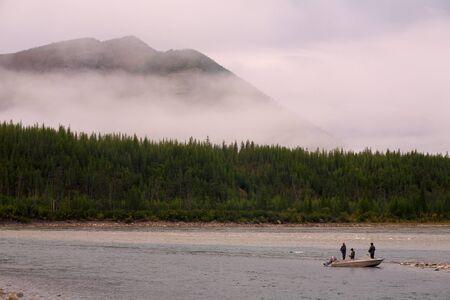 primordial: Primordial nature of Yakutia. Indigirka river.