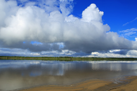 lena: The Lena River. Yakutia. Stock Photo