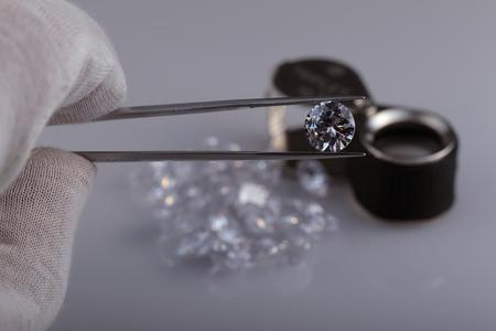 crystalline lens: Colorless gemstones