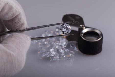 無色透明な宝石 写真素材
