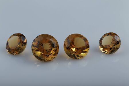 deepness: Citrine. Cut stone.