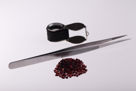 Natural Garnet oval in large quantities.