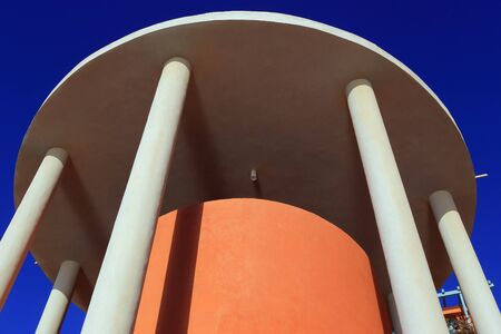 underarm: Tower with columns in El Gouna. Egypt.