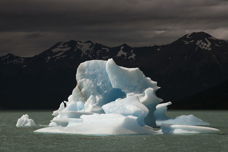 lake argentina: Iceberg floating on the lake. Argentina. Patagonia. National Park Los Glacyares. Stock Photo