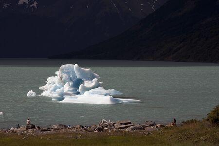 Iceberg floating on the lake. Argentina. Patagonia. National Park Los Glacyares. Stock Photo