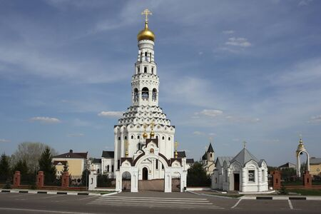 architectonics: The temple complex of the Russian Orthodox Church. Belgorod region. Russia.