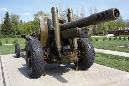 showpiece: Soviet artillery unit during the Second World War. Kursk tank battle.