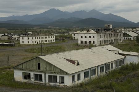 uninhabited: Uninhabited Burkandya village miners. Magadan Region. Russia.