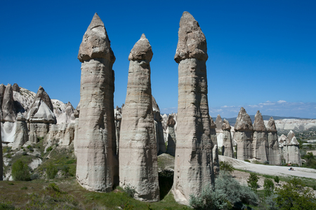 phallus: Unusual landscapes in the valley of love. Cappadocia. Turkey. Stock Photo