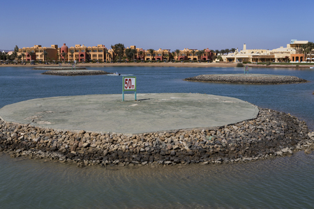 motor boats: Water testing ground for motor boats. El Gouna. Egypt.