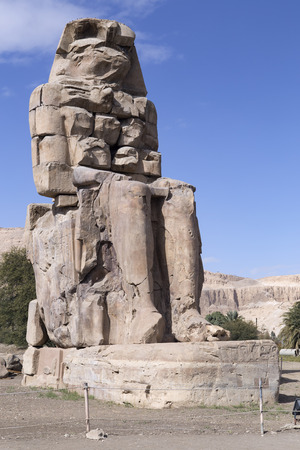 iii: Colossi of Memnon and Amenhotep III. Statues of ancient Egypt.
