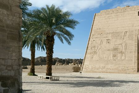 mortuary: Mortuary Temple of Ramses 3 in Medinet Habu. Ancient Egypt.