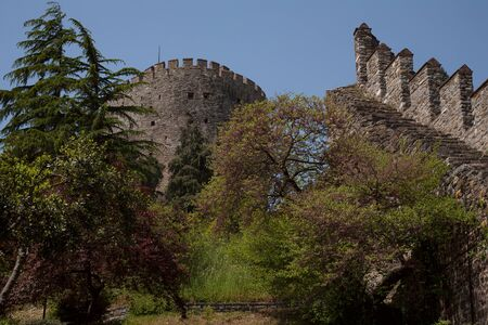 The ancient fortress walls Rumelihisari. Turkey. Bosphorus.