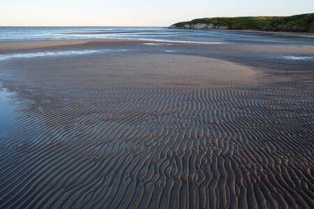 corrugation: Wave ripples on a sandbank of the river. Lena river. Yakutia. Russia.