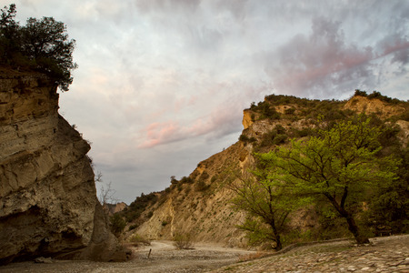The landscapes of the canyon of Pantishara. Vashlovani protected areas in Georgia.