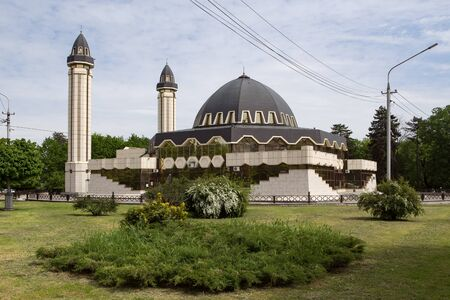 New mosque in the city of Nalchik. In Kabardino-Balkaria. North Caucasus. Editorial