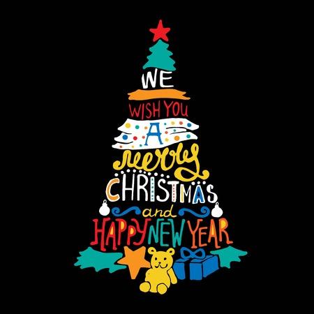 Leuke Kerstmis en Nieuwjaar achtergrond voor kaarten, uitnodigingen, decor elementen. Stock Illustratie