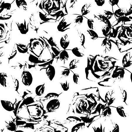rosas blancas: Fondo sin fin para diferentes proyectos. Vectores