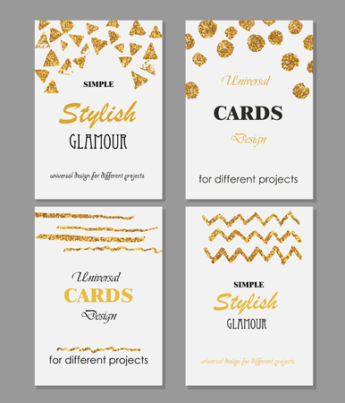Kan gebruikt worden voor verschillende gift, viering, uitnodiging, verjaardagskaarten, vouchers. Stock Illustratie