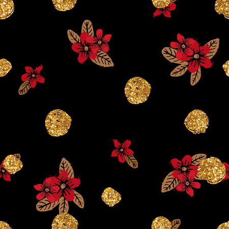 red rose: Use this pattern as endless background, backdrop, wrapping gift paper. Illustration