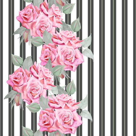 Beautiful romantic design for fabric print, covers, endless texture, backdrop, wallpaper.