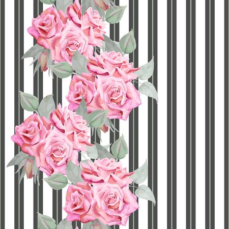 Mooie romantische ontwerp voor textiel print, covers, eindeloze textuur, achtergrond, behang. Stock Illustratie