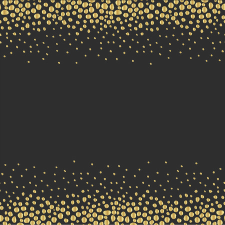 vintage card: Luxury Golden Modern Background or Card with Confetti. Stock Photo