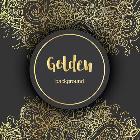 Luxe Golden Moderne Achtergrond of Card.