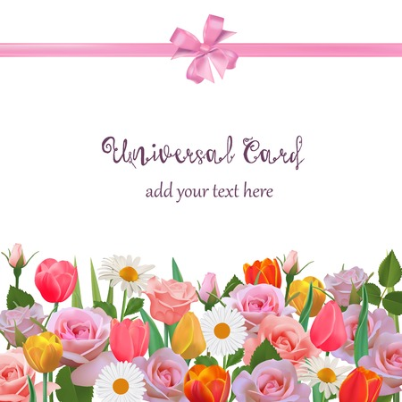 universal love: Floral Background or Wallpaper Flowers for Cards, Invitations.