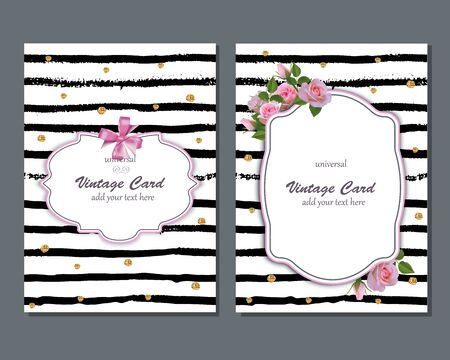 pink flowers: Illustration for different romantic projects. Retro style backgrounds.