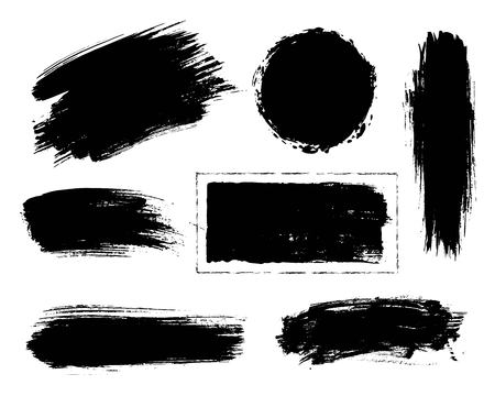 brush paint: Collection of hand drawn creative design elements