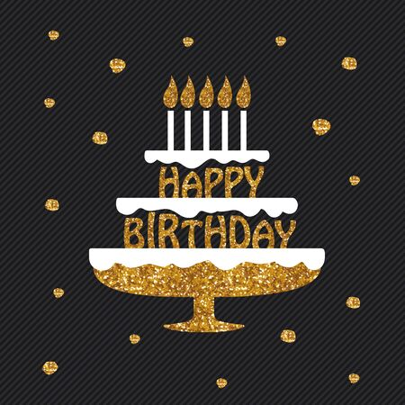 uses: Happy Birthday graphic design for different uses. Illustration