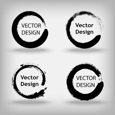 Negro ENOS círculos zen Ilustración de vector