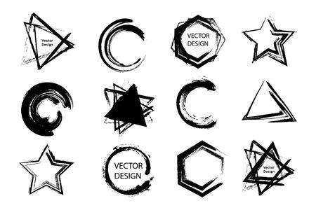 Badigeonner éléments de conception abstraite pour différents projets Vecteurs