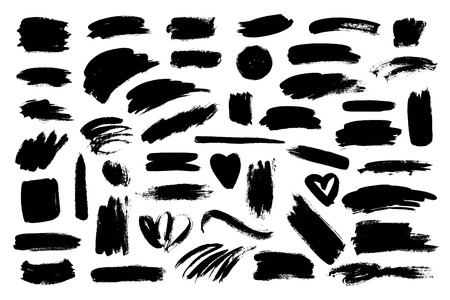 foe: Collection of different brush made design elements foe different projects. Illustration