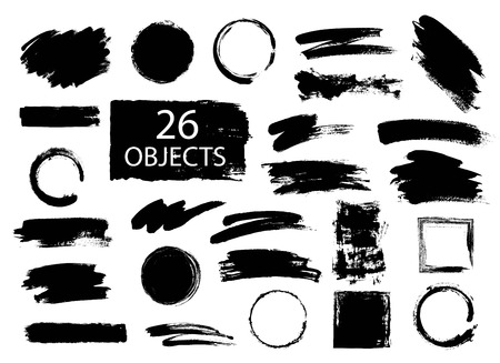 Hand drawn collection of universal uses forms for diferent projects. Фото со стока - 62012792