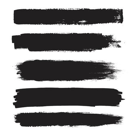 Vector conjunto de grunge pinceladas artísticas, cepillos. elementos de diseño creativo. Ilustración de vector