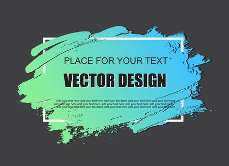 grunge frame: Creative grunge banner, frame, sticker, background. Hand drawn texture, design element. Place for text, information, quote. Illustration