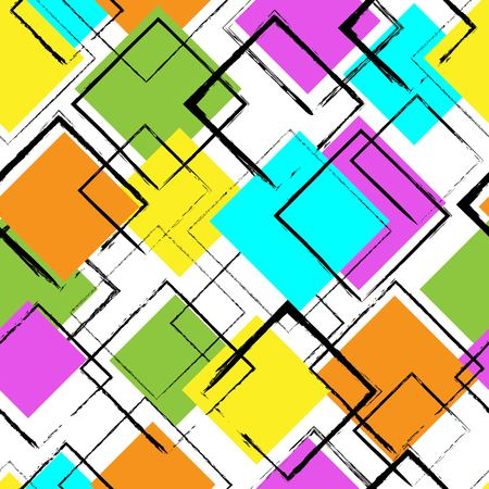 foursquare: Seamless pattern for fabric design or other uses. Endless background.