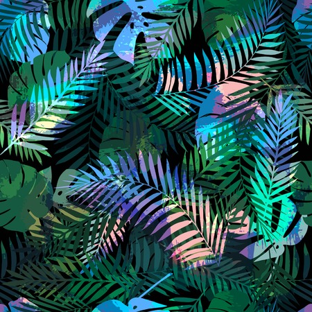 Summer tropical background or wallpaper for different projects with palm leaves.