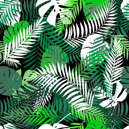 夏の熱帯背景やさまざまなプロジェクトのための壁紙。  イラスト・ベクター素材